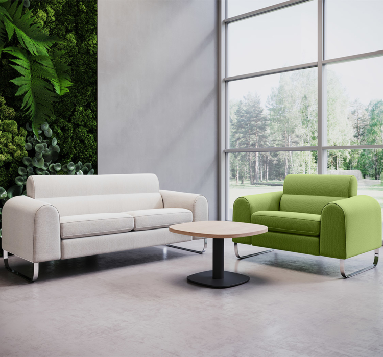 Ryno sofa and chair in foyer