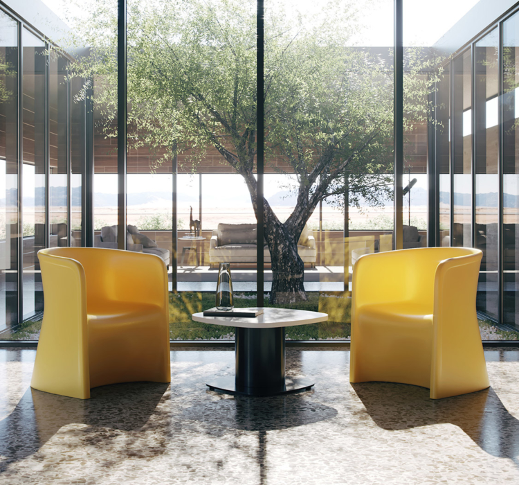Ryno tub chairs in mental health lounge