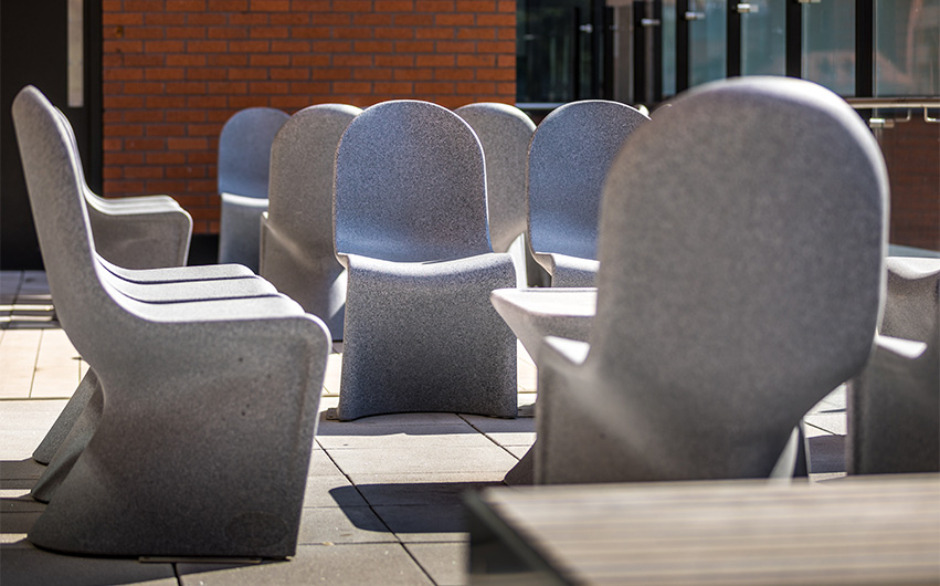 outdoor seating ryno chairs fusion school case study