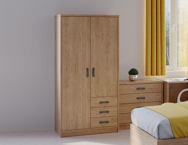 Harby Plus wardrobe in mental health bedroom