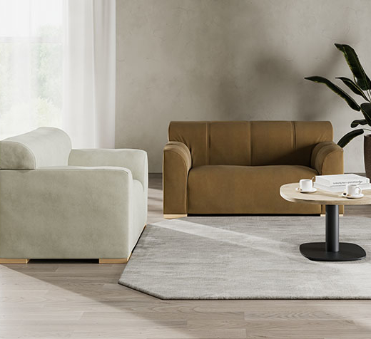 Magna sofas in a mental health lounge