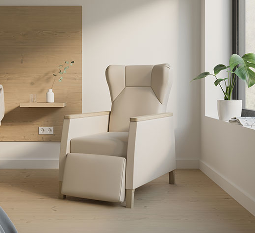 Maloy recliner in healthcare space